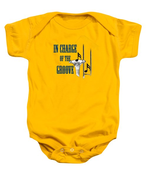 Trombones In Charge Of The Groove 5533.02 Baby Onesie by M K  Miller