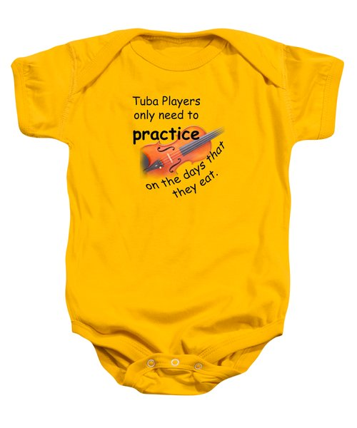Violin Viola Practice When You Eat For T Shirts  Or Posters 4832.02 Baby Onesie by M K  Miller