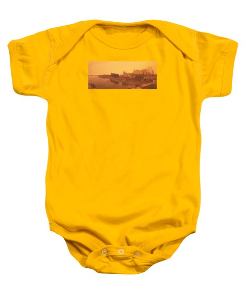 Westminster Abbey  Baby Onesie by Peter de Wint