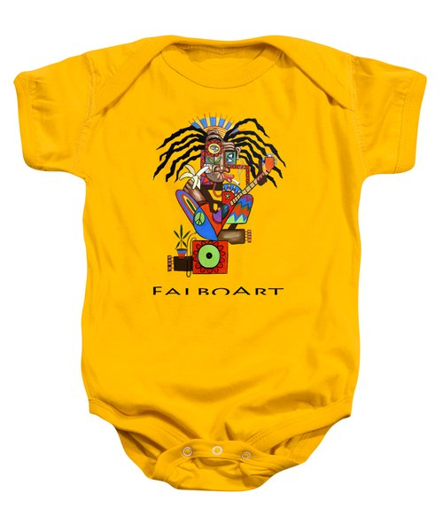 Ya Man 2 No Steel Drums Baby Onesie by Anthony Falbo