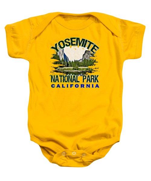 Yosemite National Park Baby Onesie by David G Paul