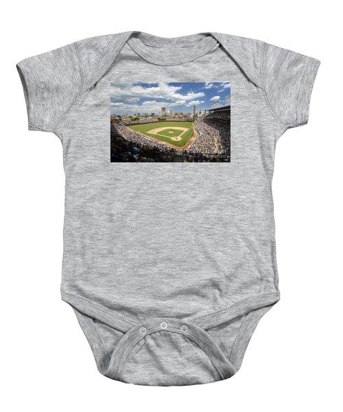 0415 Wrigley Field Chicago Baby Onesie by Steve Sturgill