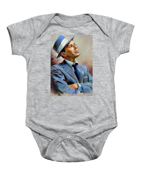 Frank Sinatra  Baby Onesie by Ylli Haruni