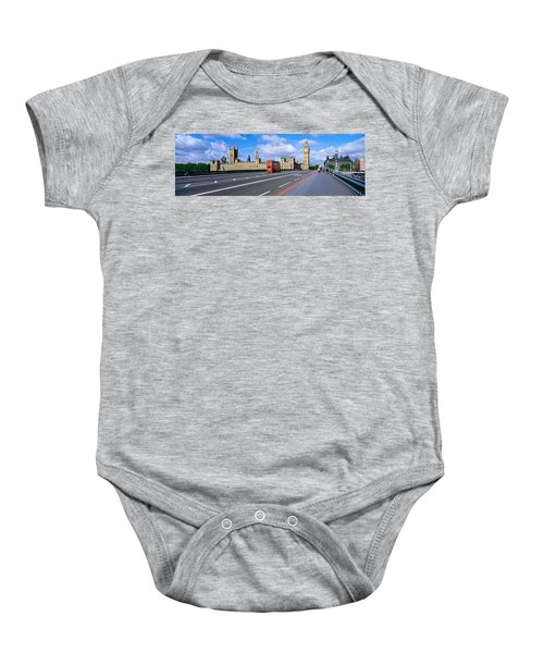 Parliament Big Ben London England Baby Onesie by Panoramic Images