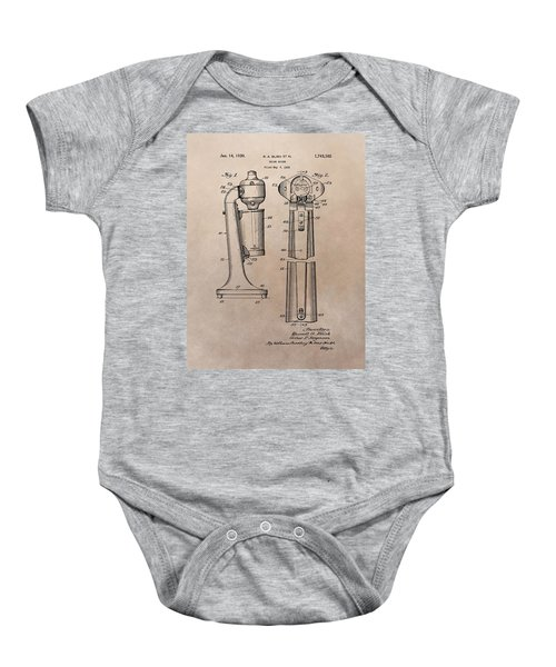 1930 Drink Mixer Patent Baby Onesie by Dan Sproul