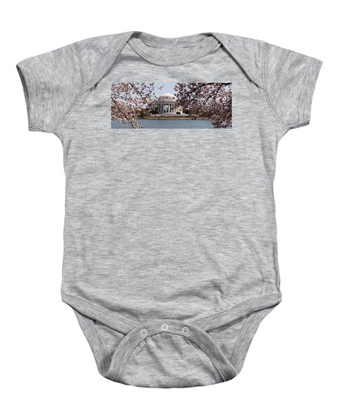 Cherry Blossom Trees In The Tidal Basin Baby Onesie by Panoramic Images