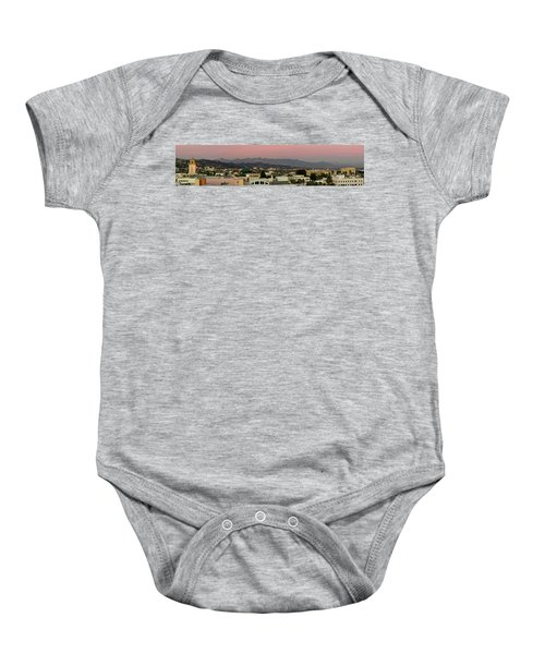 Elevated View Of Buildings In City Baby Onesie by Panoramic Images