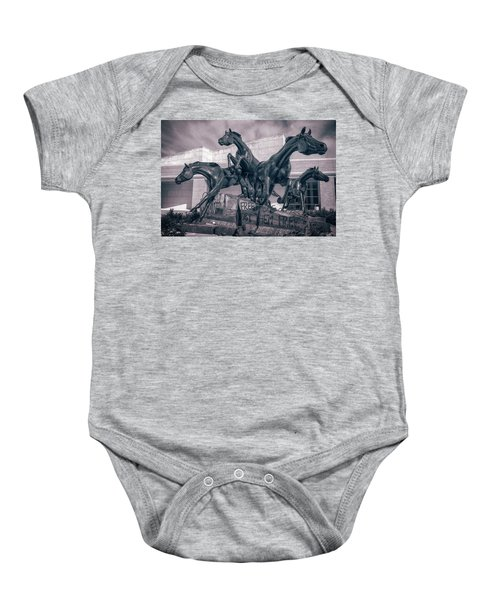A Monument To Freedom II Baby Onesie by Joan Carroll