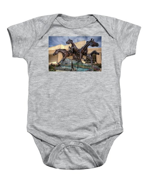 A Monument To Freedom Baby Onesie by Joan Carroll