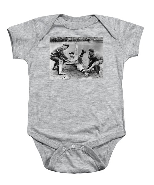 Babe Ruth Slides Home Baby Onesie by Underwood Archives