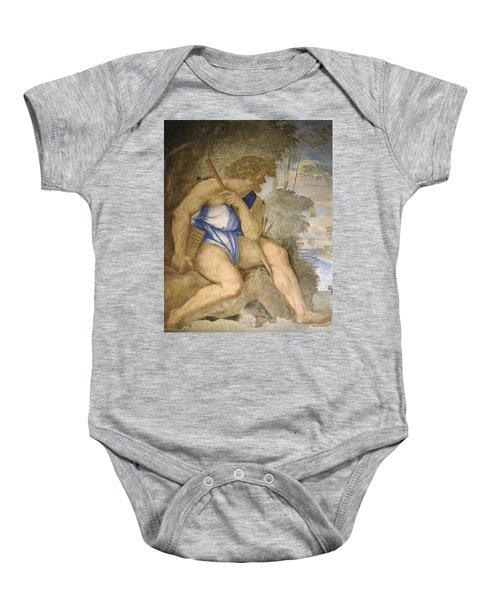 Baldassare Peruzzi 1481-1536. Italian Architect And Painter. Villa Farnesina. Polyphemus. Rome Baby Onesie by Baldassarre Peruzzi