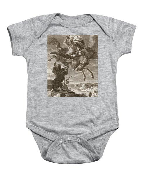 Bellerophon Fights The Chimaera, 1731 Baby Onesie by Bernard Picart