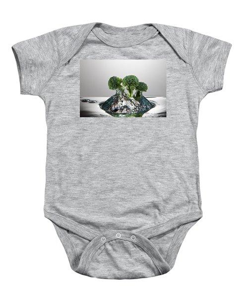 Broccoli Freshsplash Baby Onesie by Steve Gadomski