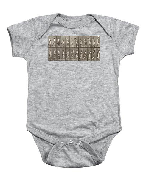 Cricketer Baby Onesie by Eadweard Muybridge