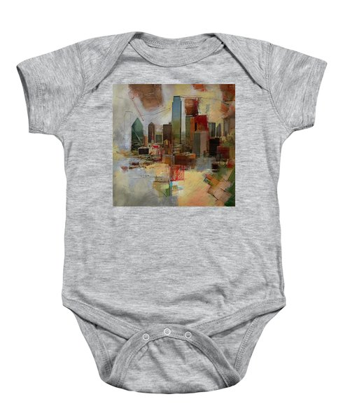 Dallas Skyline 003 Baby Onesie by Corporate Art Task Force