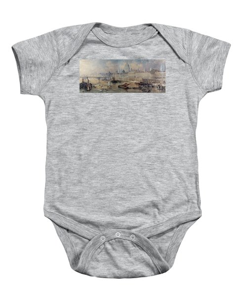 Design For The Thames Embankment Baby Onesie by Thomas Allom