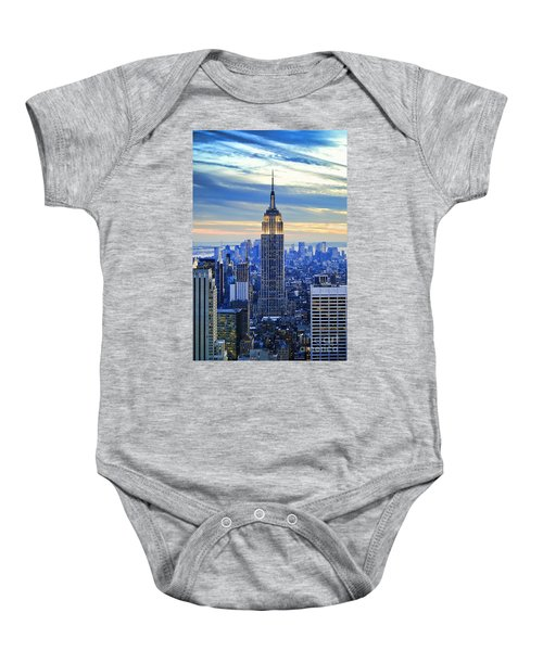 Empire State Building New York City Usa Baby Onesie by Sabine Jacobs