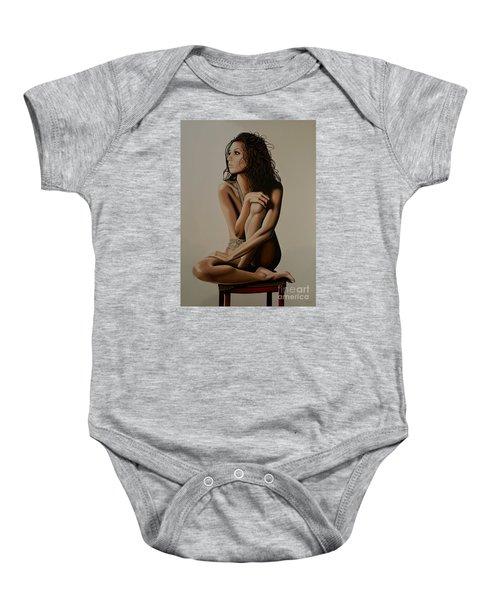 Eva Longoria Painting Baby Onesie by Paul Meijering