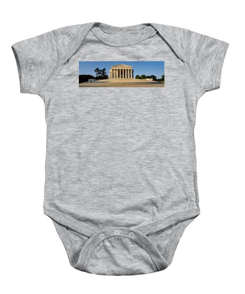 Facade Of A Memorial, Jefferson Baby Onesie by Panoramic Images