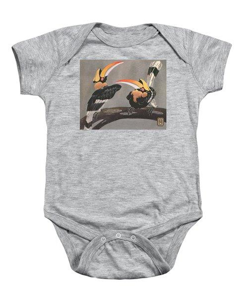 Hornbills Baby Onesie by Ethleen Palmer
