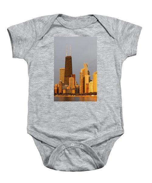 John Hancock Center Chicago Baby Onesie by Adam Romanowicz