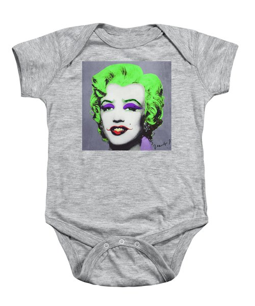 Joker Marilyn Baby Onesie by Filippo B