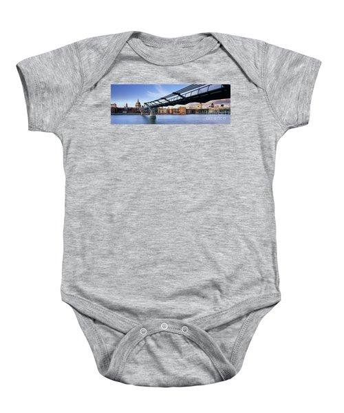 Millennium Bridge London 1 Baby Onesie by Rod McLean