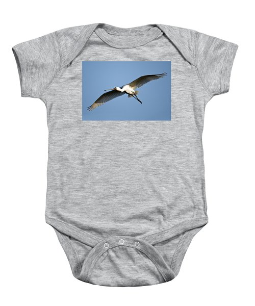 Low Angle View Of A Eurasian Spoonbill Baby Onesie by Panoramic Images