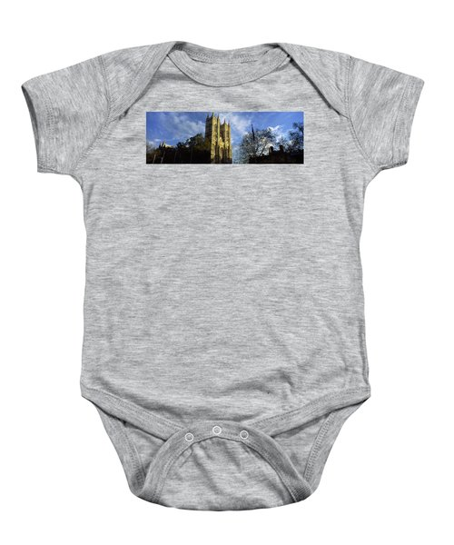 Low Angle View Of An Abbey, Westminster Baby Onesie by Panoramic Images