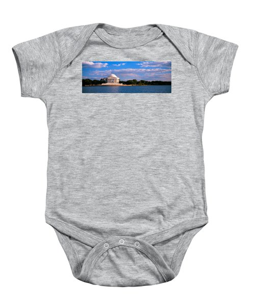 Monument On The Waterfront, Jefferson Baby Onesie by Panoramic Images