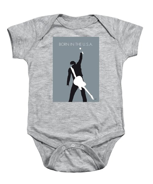 No017 My Bruce Springsteen Minimal Music Poster Baby Onesie by Chungkong Art