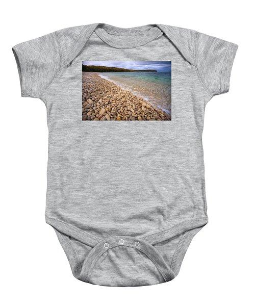 Northern Shores Baby Onesie by Adam Romanowicz