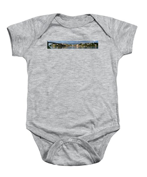 Old Bridge Over The Sea, Le Bono, Gulf Baby Onesie by Panoramic Images