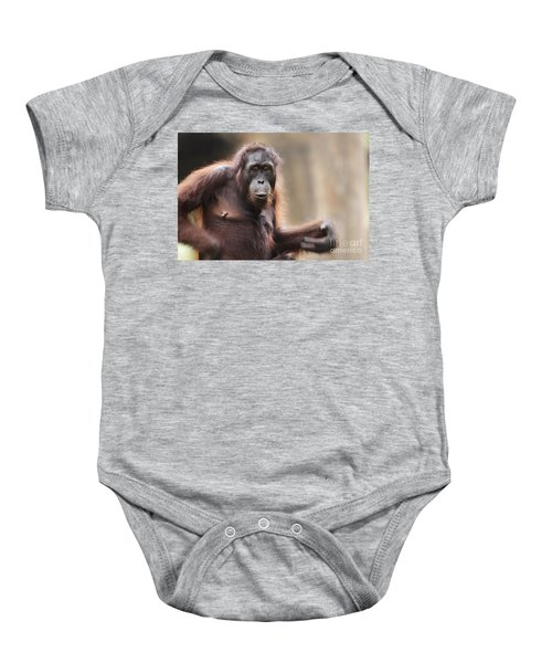 Orangutan Baby Onesie by Richard Garvey-Williams
