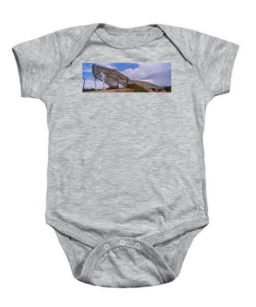 Pedestrian Bridge Over A River, Snake Baby Onesie by Panoramic Images