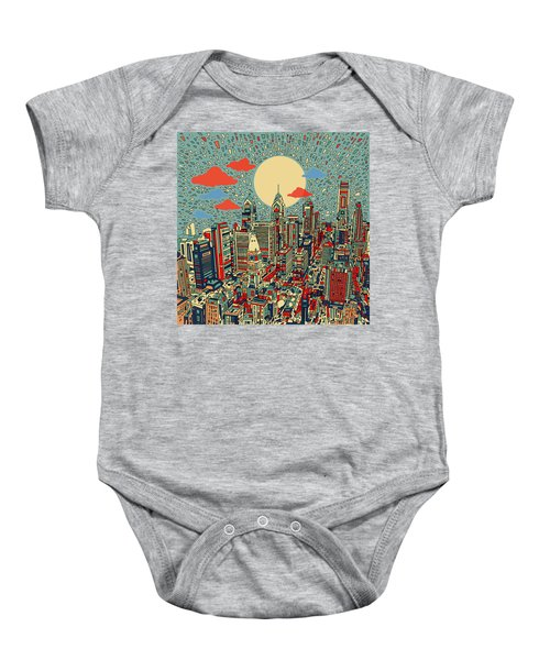 Philadelphia Dream 2 Baby Onesie by Bekim Art