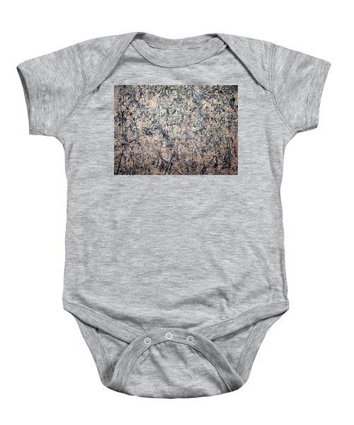 Pollock's Number 1 -- 1950 -- Lavender Mist Baby Onesie by Cora Wandel