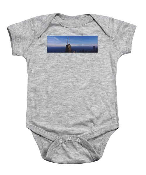 Skyscrapers In A City, Hancock Baby Onesie by Panoramic Images