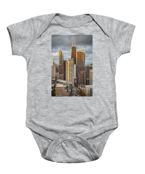Streeterville From Above Baby Onesie by Adam Romanowicz