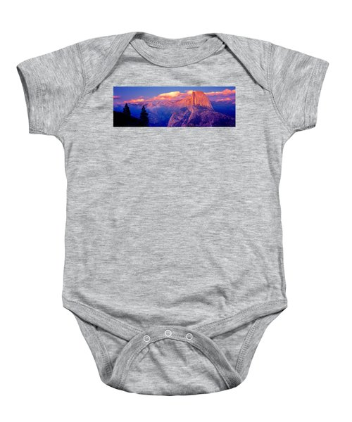 Sunlight Falling On A Mountain, Half Baby Onesie by Panoramic Images