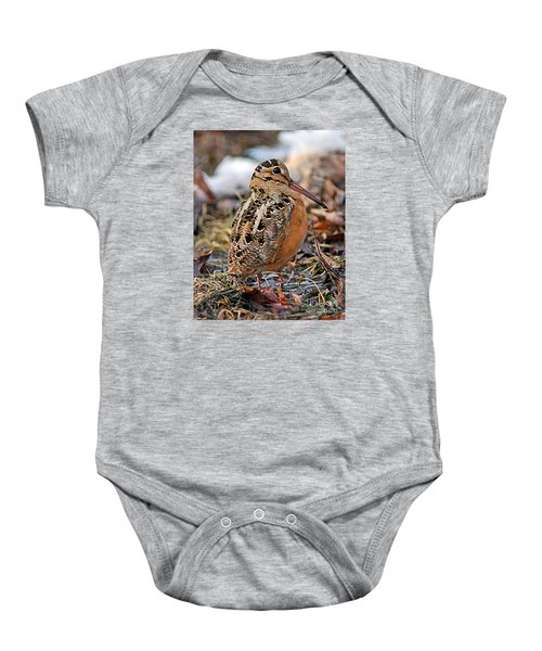 Timberdoodle The American Woodcock Baby Onesie by Timothy Flanigan