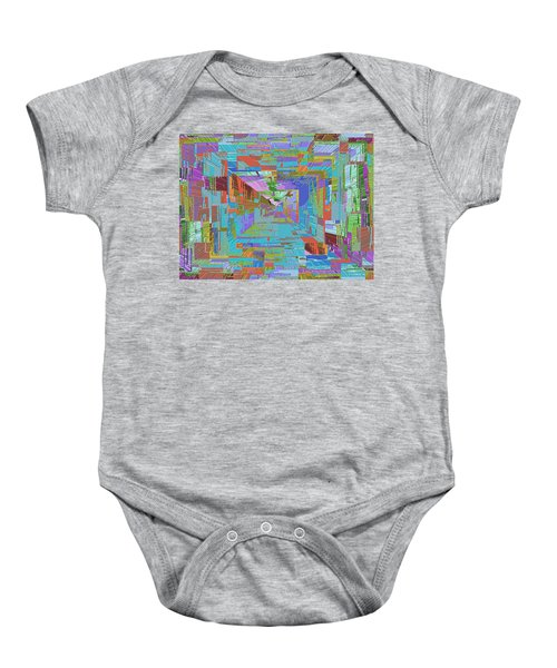 Topographic Albatross Baby Onesie by Tim Allen