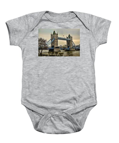 Tower Bridge On The River Thames Baby Onesie by Heather Applegate