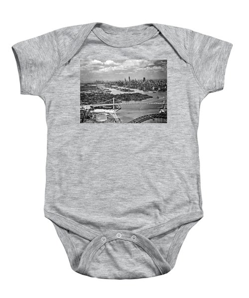 Triborough Bridge Is Completed Baby Onesie by Underwood Archives