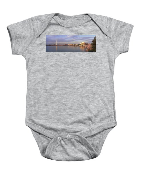 Usa, Washington Dc, Tidal Basin, Spring Baby Onesie by Panoramic Images