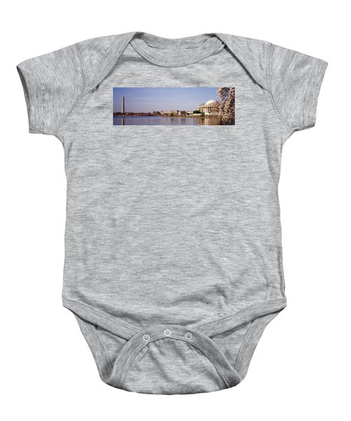 Usa, Washington Dc, Washington Monument Baby Onesie by Panoramic Images