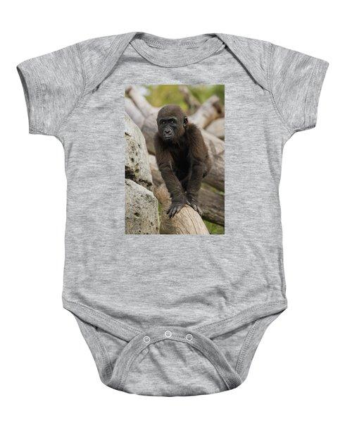 Western Lowland Gorilla Baby Baby Onesie by San Diego Zoo