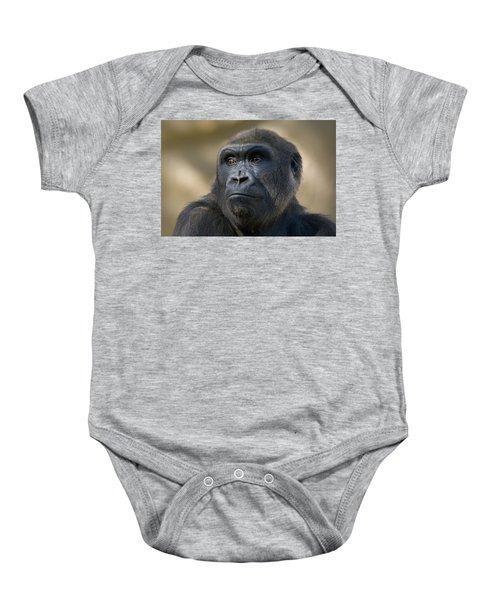 Western Lowland Gorilla Portrait Baby Onesie by San Diego Zoo