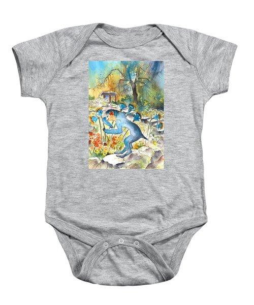 The Minotaur In Knossos Baby Onesie by Miki De Goodaboom
