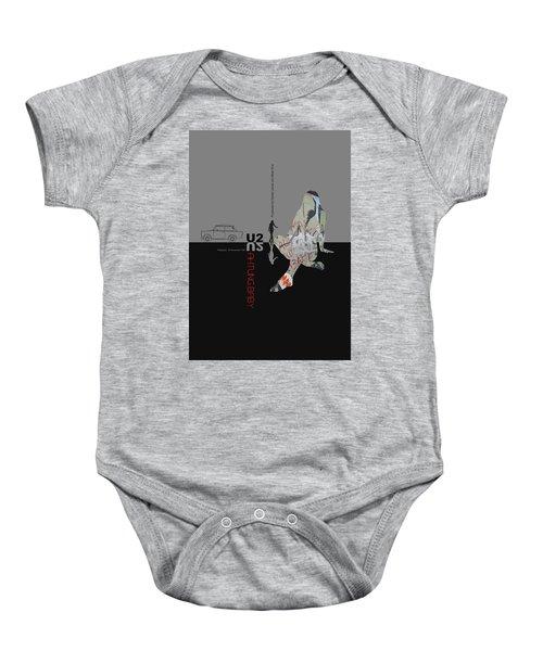 U2 Poster Baby Onesie by Naxart Studio